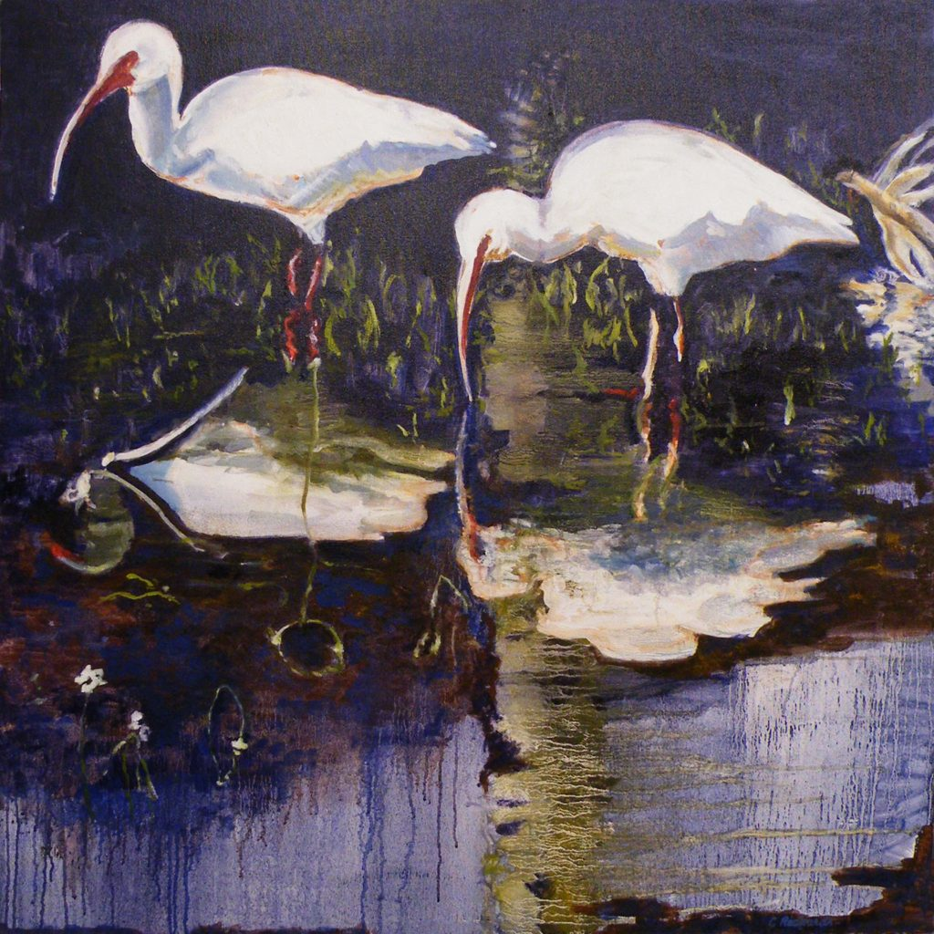 SECOND PLACE: Early Morning, Oil by Charlotte Richards, 36in x 36in (August 2013)