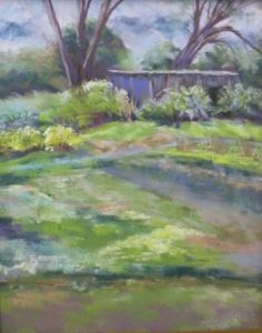 Early Spring Garden, Pastel by Kathleen Willingham, 14in x 11in (June 2013)