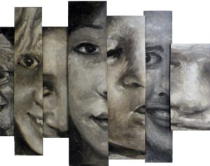 Facebook Faces, Oil on Wood Panels by Tom Smagala, 34in x 43in (May 2013)