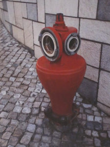 Fire Hydrant, Lisbon, Archival Metallic Photo by Deborah Herndon, 14in x 10.5in, $155 (April 2018)