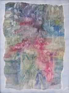 Garden Collection IV, Mixed Media by Rita Rose and Rae Rose, Unframed 24 in x 18in Framed 26in x 20in (April 2013)