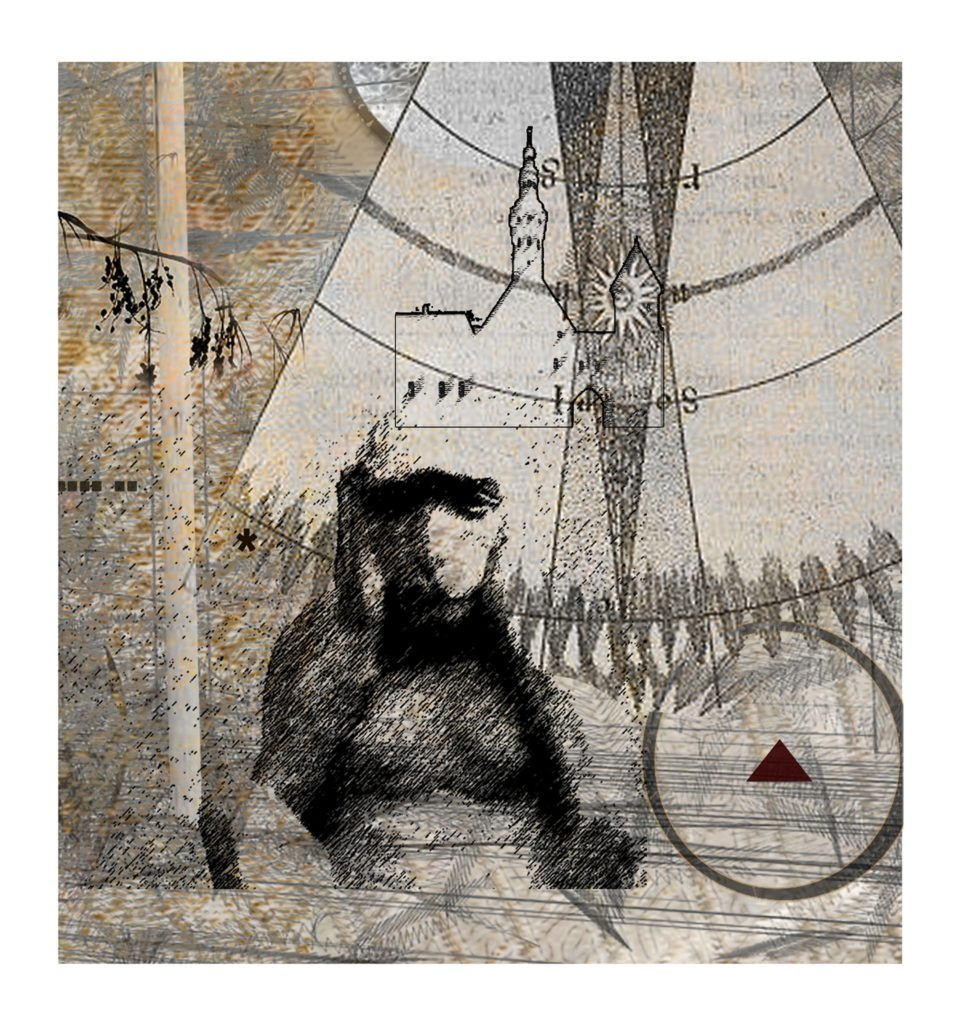 HONORABLE MENTION: Hear No Evil, Digital Printmaking by Robert S. Hunter, 8in x 7.5in (May 2013)