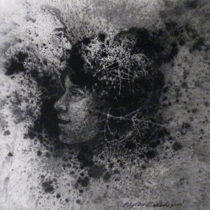 Imaginary People, Charcoal by Phyllis Graudszus, 6inx6in (March 2013)