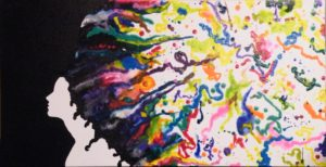 Imagine, Acrylic and Wax by April McCarthy Morgan, 15in x 30in x 1.5in (July 2013)
