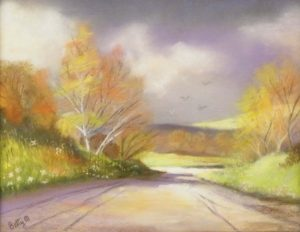 Just Before the Storm, Pastel by Betty Martley, 11in x 8.5 (June 2013)