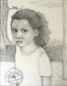 Little B, Graphite on Paper by Mary Lou Cramer, 14inx11in Framed 20inx16in (March 2013)