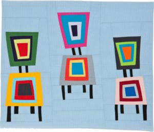 Musical Chairs, Fiber by Maria Shell, 24in x 28in (May 2013)