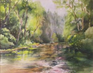 My Zen Place, Watercolor by Penny Hicks, 11in x 14in (August 2013)