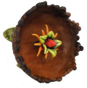 Nut Flower, Earthenware by Christine Lush-Rodriguez,e 4in x 4in x 4in (July 2013)