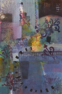 On the Edge, Mixed Media by Bev Bley, 20.5in x 13.5in Framed 27.5 x 20in (May 2013)