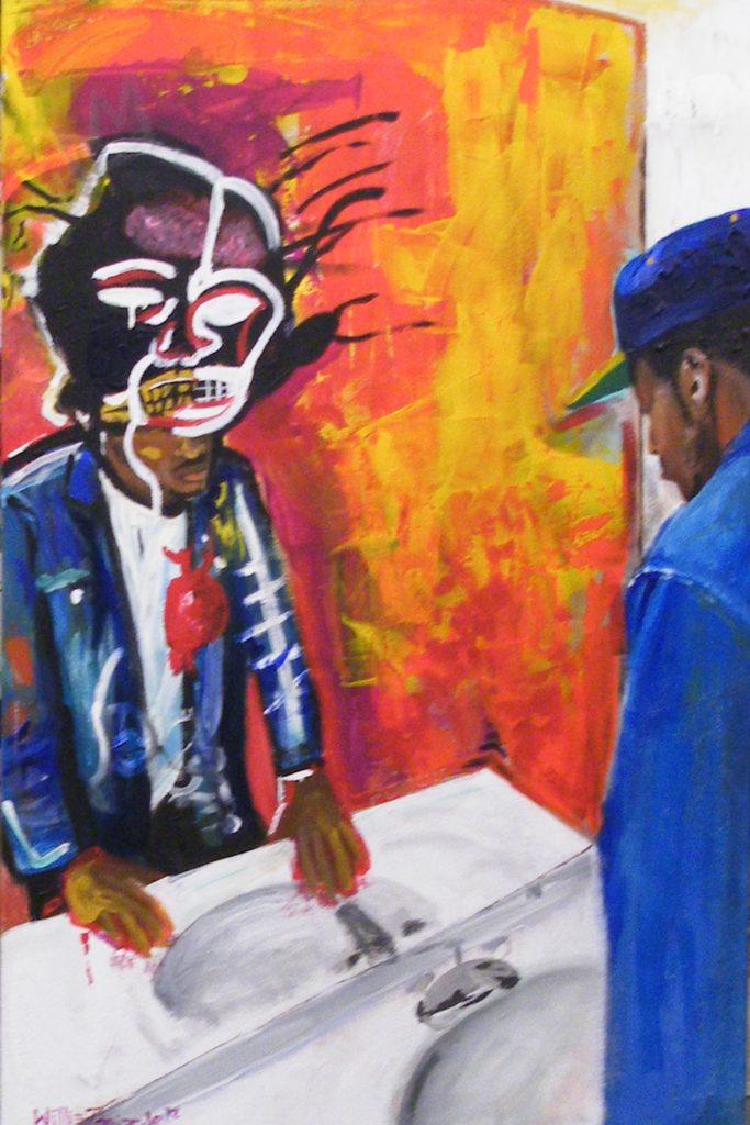 FIRST PLACE: Perception vs. Reality, Acrylic by Willie Porter Jr, 36inx24in (March 2013)