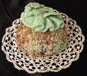 Puff No 7 Like a Lichen, Mixed Fibers by Erin Cork, 3.5in x 6.5in (April 2013)