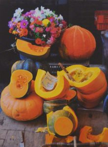 Pumpkins at Market, Metallic Photo Ltd. ed. by Deborah Herndon, 17in x 21in x 1in (June 2013)
