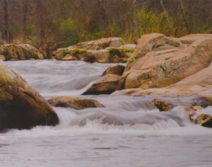 Rappahannock Rapids, Photograph by Leslie M. Cruz, 14in x 11in (August 2013)