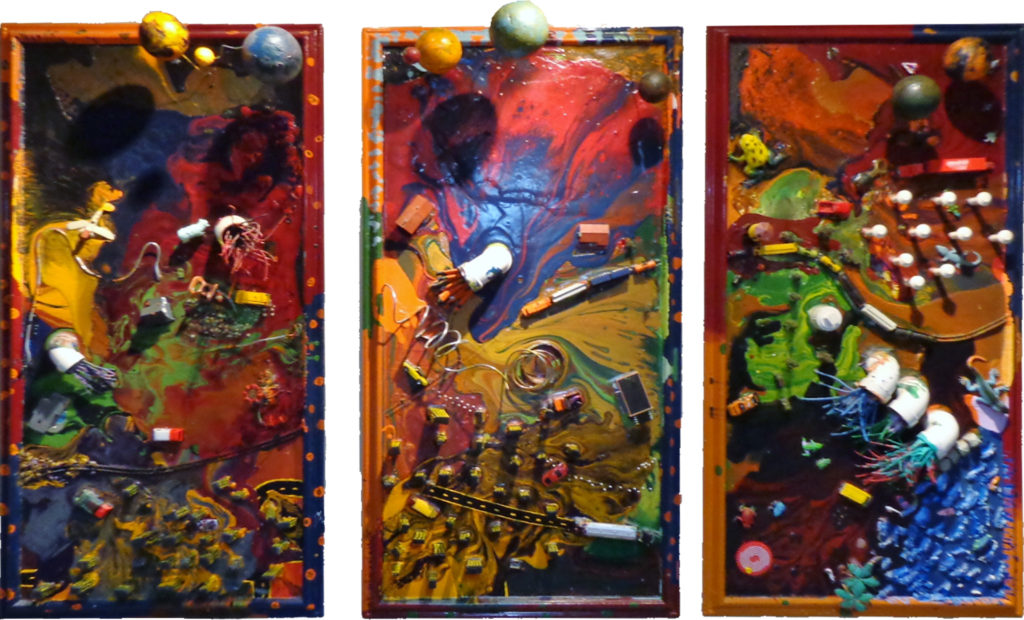 FIRST PLACE: School District 2, Mixed Media by Guerin Wolf, 90in x 52in x 3in (July 2013)
