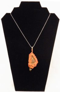 Scrap Metal Necklace, Glass Beads and Copper by Liana Pivirotto (July 2013)