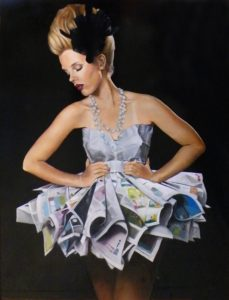 See Her in the Funny Papers, Oil by Toy Fowler, 42 in x 32 in (March 2013)