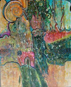 Shamans Rising, Watermedia by Jane Winders Frank, 32in x 25.5in (July 2013)