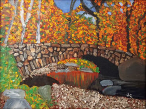 Stone Bridge, Oil Pastel by James Clark, 18in x 24in, $275 (April 2018)