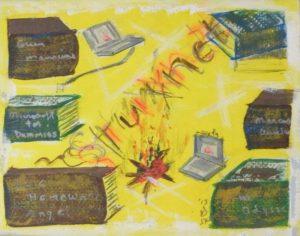 Stuxnet, Oil by Gwen L. Skinner, 5.5x7 (February 2013)
