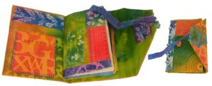 Sunprint Journal, Textiles-mixed by Elizabeth Woodford, 9x17x1 (February 2013)