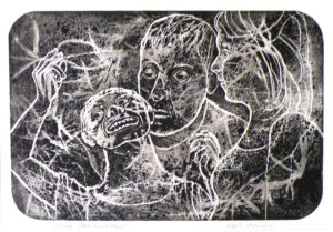 Autism - What Does It Mean,  Ink on Clayboard by Phyllis Graudszue, Size 10.5in x 7.5in (October 2013)