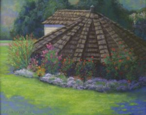 Belmont Spring House, Pastel by Kathy Waltermire, Size 11in x 14in (October 2013)