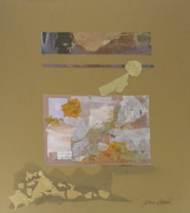 The Midas Touch, Collage by Gloria Affenit, Size 16in x 18in (October 2013)