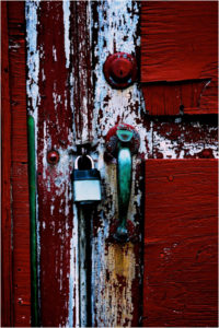 Darbytown Door Details, Photograph on Canvas by Lee Cochrane, 12in x 8in, $100 (July 2018)