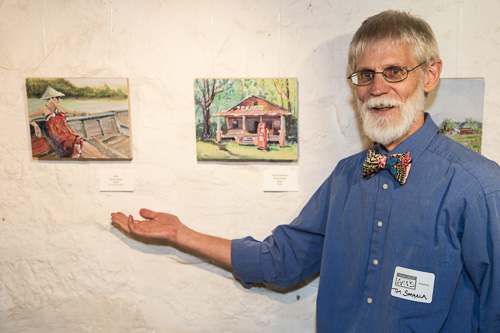 Tom Smagala with pieces from his Members' Gallery show