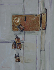 Gallery Door Knob, a painting by Tom Smagala (MG: May 2013)
