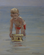 Playing in the Water, a painting by Tom Smagala (MG: May 2013)