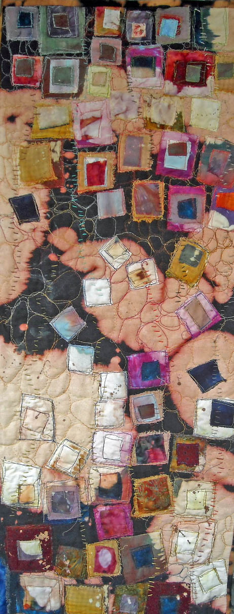 Encroachment III, a quilt by Lorie McCown (MG: July 2013)
