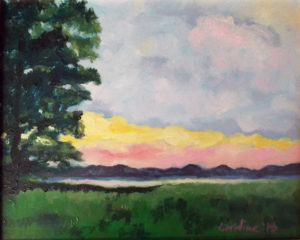 Blur of Days, Oil on Board by Caroline Murphy Smalley, 8in x 10in, $85 (August 2018)
