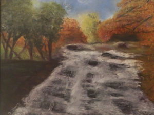 Fall Stream, Pastel by Denise Dalia-Cooper, 12in x 16in, $300 (October 2018)