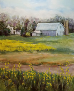 Family Farm, Pastel by Kathleen Willingham, 20in x 16in, $625 (October 2018)