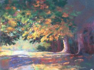 Maymont Park, Autumn, Pastel by Regina Tune, 9in x 12in, $395 (October 2018)