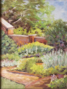 Montpelier Garden, Pastel by Kathleen Willingham, 16in x 12in, $425 (October 2018)