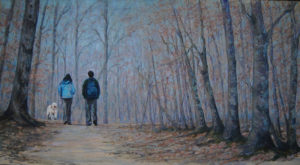 Morning Walk, Pastel by Lorraine Momper, 18in x 34in, $650 (October 2018)