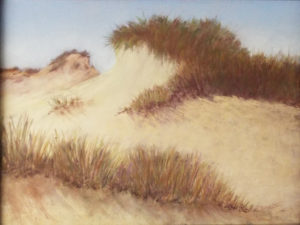 Sandbridge Dunes, Pastel by Kathy Staicer, 12in x 16in, $350 (October 2018)
