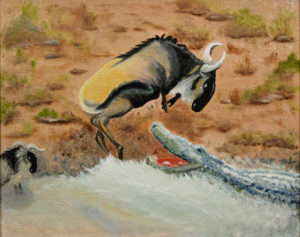 Wildebeest Meets Crocodile by Taylor Cullar (CBTC: February 2019)