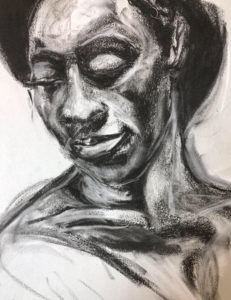 Life, Charcoal on Paper by Tronja, 13in x 10in, $300 (March 2019)