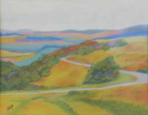 The Long Winding Road, Pastel by Betty Martley, 12.5in x 16in, NFS (April 2019)