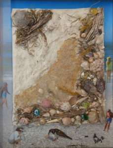 Treasures From the Beach, Mixed Media by Betty Martley, 17in x13in, NFS (April 2019)