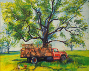 The Portner's Old Truck, Oils by Rita E. Kovach, 24in x 30in, $350 (May 2019)