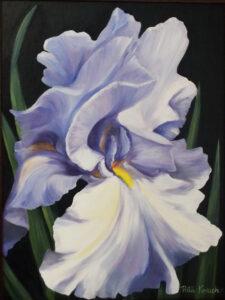 Iris Fantasy, Oils by Rita Kovach, 24in x 18in, $300 (July 2019)