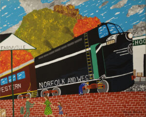 Farmville, VA, Train Station, Acrylic by Mark Prieto, 16in x 20in, $425 (August 2019)