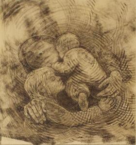 The Primal Bond, Ink on Clayboard by Phyllis Graudszus, 7.5in x 7in, NFS (August 2019)