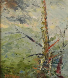 The Tree after Storm, Oil by Maria K. Motz, 8in x 7in, $380 (August 2019)