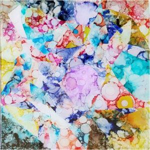 Kaleidoscope, Mixed Media by Van Anderson, 12in x 12in, $175 (September 2019)